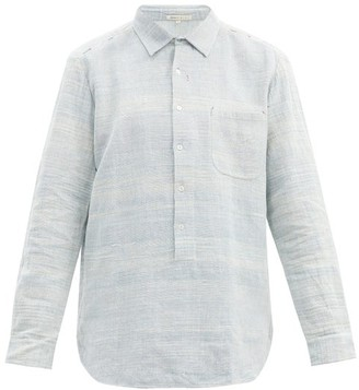 11.11 / Eleven Eleven - Half-buttoned Cotton-chambray Shirt - Blue