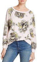Free People Go On Floral Sweatshirt