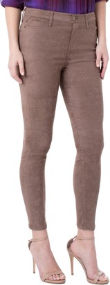 Liverpool Abby Faux Suede Stretch Skinny Jeans