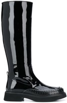 Tod's patent knee-high boots