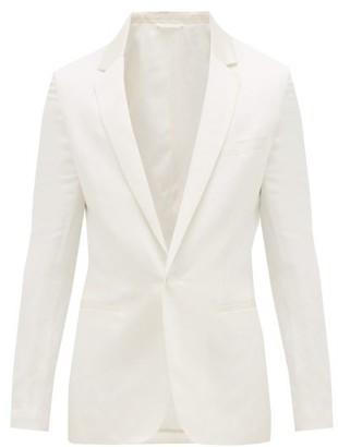 Haider Ackermann Cummerbund Silk-collar Wool-twill Blazer - Mens - Ivory
