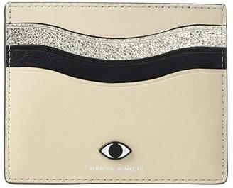 Rebecca Minkoff Large Card Case w/ Eye Stud (Tahini Multi) Handbags
