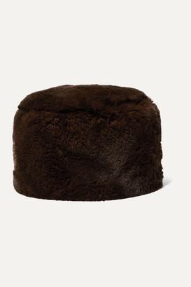 EMMA BREWIN Clari Faux Fur Hat - Chocolate