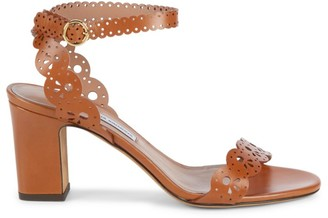 Tabitha Simmons Bobbin Lasercut Leather Ankle-Strap Sandals