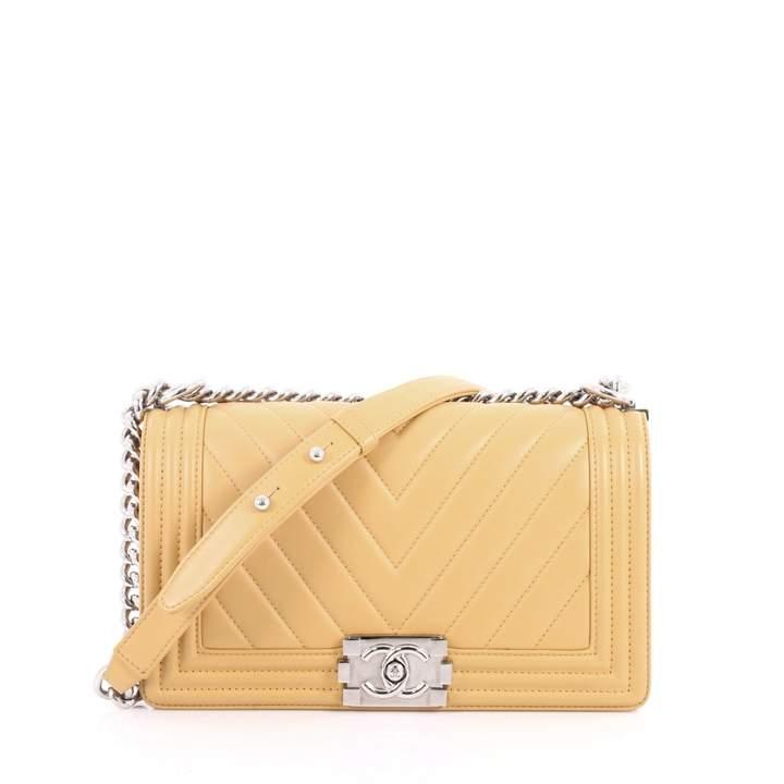 Chanel Boy Brown Leather Handbag