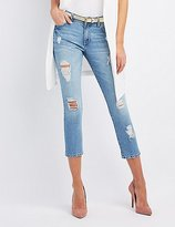 Charlotte Russe Refuge Crop Destroyed Skinny Jeans