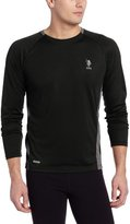 U.S. Polo Assn. Men's Micro Mesh Long Sleeve Raglan Crew Neck