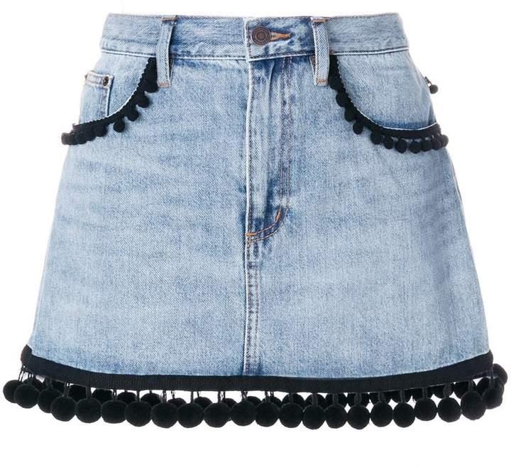 Marc Jacobs pom pom trim denim skirt