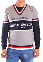 Frankie Morello Men's Grey Wool Sweater.