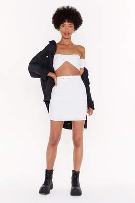 Nasty Gal Womens Buckle It High-Waisted Mini Skirt - Pink - 10