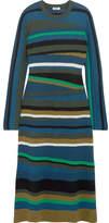 Kenzo Striped Knitted Midi Dress - Navy