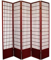 Oriental Furniture Extra Tall, 78-Inch Window Pane Japanese Shoji Screen Room Divider