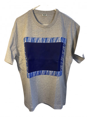Kenzo Grey Cotton T-shirts
