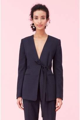 Rebecca Taylor Zig Zag Jacquard Jacket