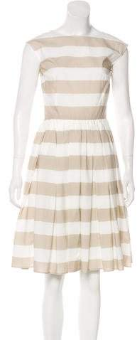 Dolce & Gabbana A-Line Striped Dress