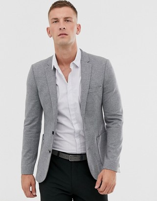 Asos Design DESIGN super skinny jersey blazer in gray
