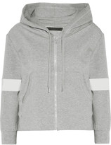 Norma Kamali Cropped stretch-cotton hooded top