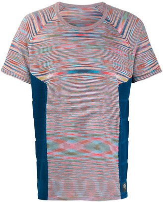 adidas tie-dye panelled T-shirt