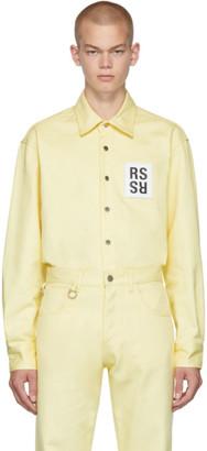 Raf Simons Yellow Denim Slim Fit Shirt