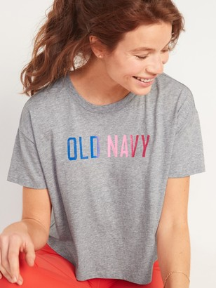 Old Navy Logo-Graphic Crop Tee for Women