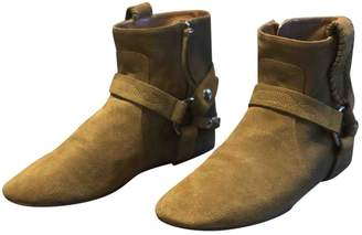 Isabel Marant Gaucho Camel Suede Ankle boots