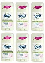 Tom's of Maine Natural Women's Stick Antiperspirant Deodorant,2.25 Ounce, Pack of 6
