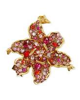 Kenneth Jay Lane Pave Crystal Flower Pin
