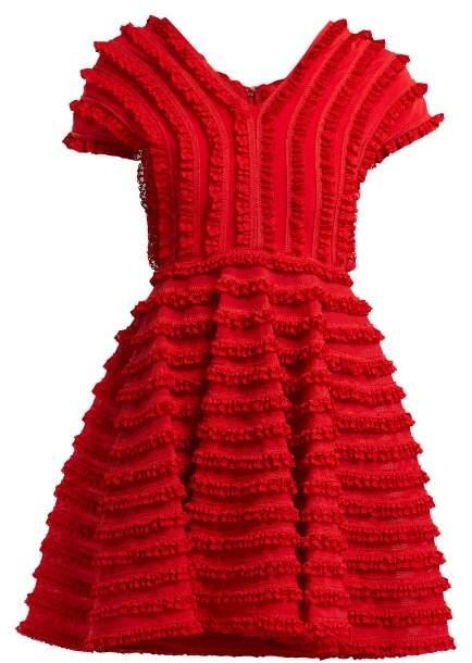 Emilio De La Morena Zelda Ruffled Cocktail Dress - Womens - Red