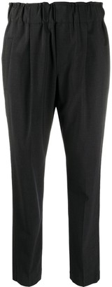 Brunello Cucinelli Cropped Elasticated-Waist Trousers