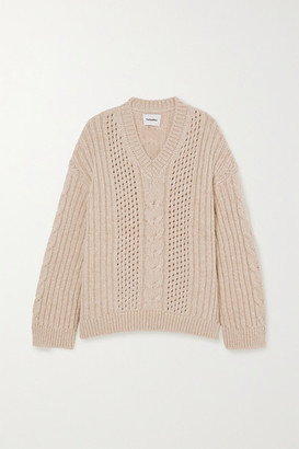 Nanushka Arwan Cable-knit Sweater - Cream