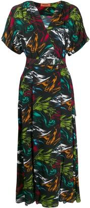 Missoni Abstract-Print V-Neck Dress