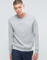 Converse Embossed Graphic Sweatshirt In Grey 10001148-a03