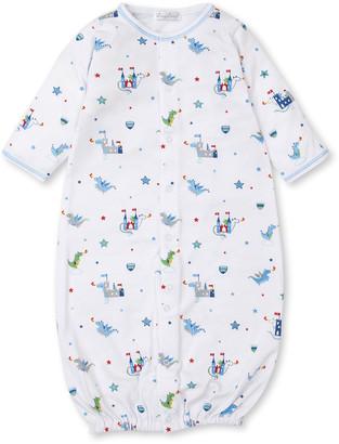 Kissy Kissy Dragon Towers Printed Convertible Sleep Gown, Size Newborn-Small