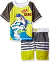 iXtreme Toddler Boys' Ride Dude Shark Rashguard Set