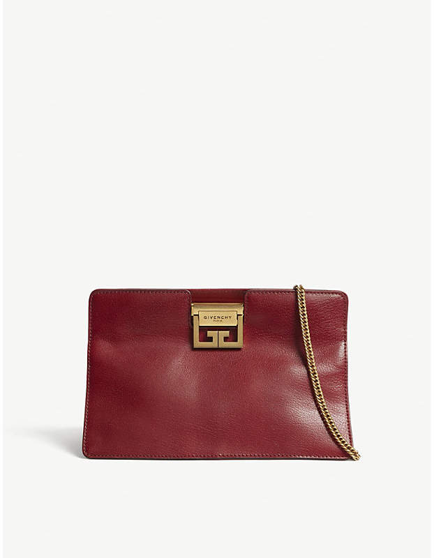 Givenchy GV3 leather clutch