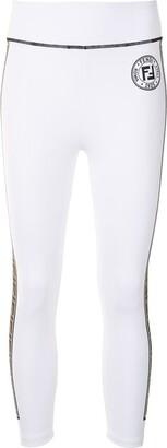 Fendi FF motif track pants