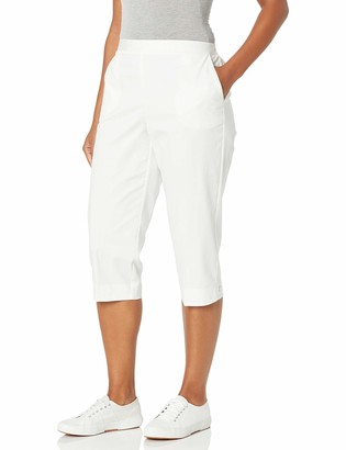 Alfred Dunner Women's Plus Size Twill Classic FIT Capri