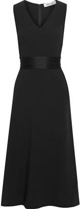 Diane von Furstenberg Maud Fluted Satin-crepe Midi Dress