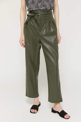 Urban Outfitters Maya Faux Leather Pleated Trouser Pant