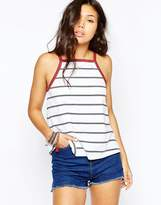 Asos Swing Tipped Tank In Stripe