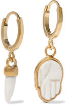 Isabel Marant Gold-tone Bone Hoop Earrings
