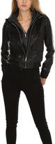 R 13 Hooded Leather Flight Jacket