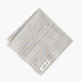 The Hill-Side selvedge pocket square in stripe