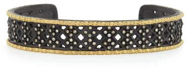 Armenta Old World Midnight Multi-Cravelli Carved Cuff with Diamonds