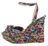 Charlotte Olympia Satin Printed Wedges