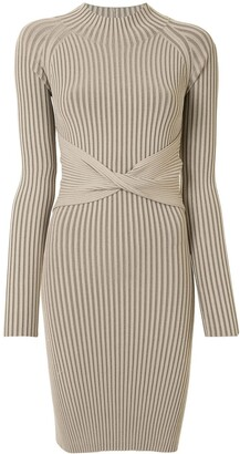 Dion Lee Ribbed Stripe Twist Dress