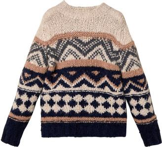 Brunello Cucinelli Boy's Fair Isle Alpaca-Cashmere Sweater, Size 8-10