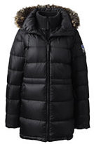 Lands' End Women's Tall Explorer Down Parka-Black