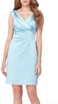 Tahari Women's Satin Sheath Dress
