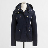 J.Crew Factory Resin-coated twill jacket with hood